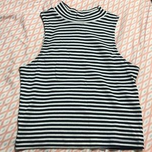 Black and white stripped top